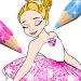 Download Ballerina Coloring Book Glitter - Girl Games APK
