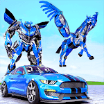 Download Police Robot Transform Unicorn Flying Horse Hero APK