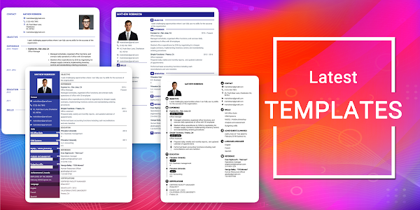 Download Resume Builder App Free CV maker CV templates 2019 APK